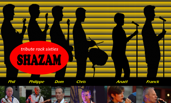 Concert Shazam Hommage au rock des 60's Samedi 13 Novembre 2021 à 20h30